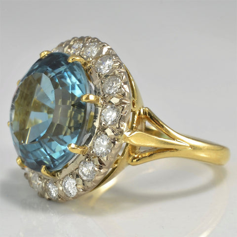 Stunning Blue Topaz & Diamond Cocktail Ring | 0.50 ctw, SZ 5.25 |
