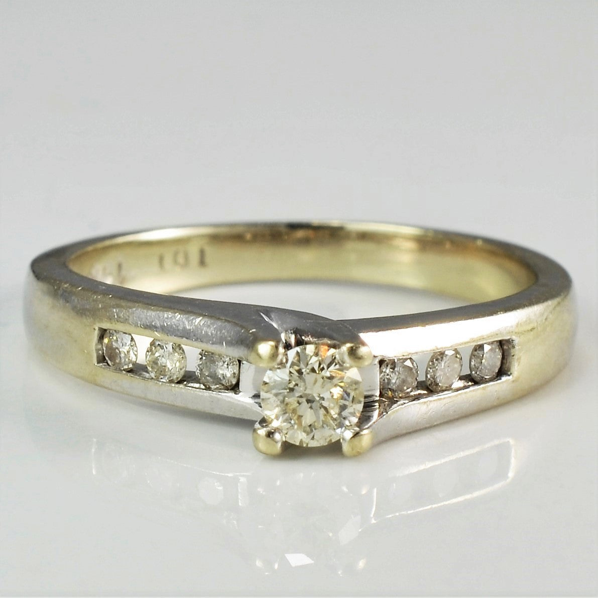 Classic White Gold Diamond Ring | 0.21 ctw, SZ 5.5 |