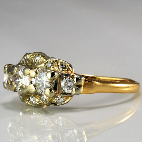 Multi Stone Vintage Diamond Ring SZ 7