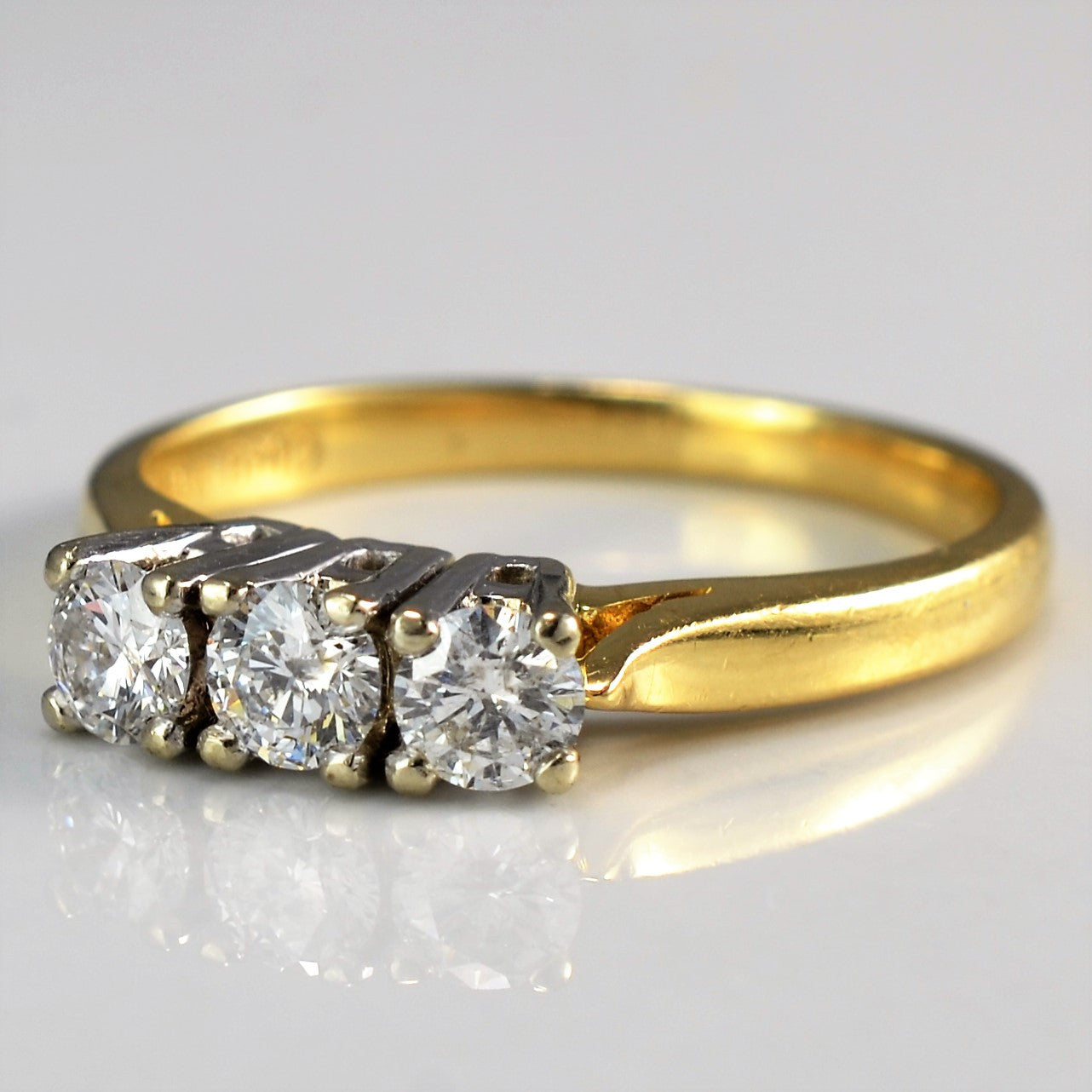 Prong Set Three Stone Diamond Ring | 0.45 ctw, SZ 6.5 |