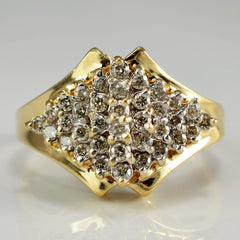 High Set Cluster Cocktail Ring | 0.50 ctw, SZ 6.25 |