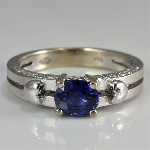 Sapphire & Hearts Engagement Ring | 0.35 ctw, SZ 5.75 |