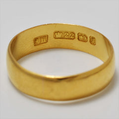 22K Yellow Gold Wide Band | SZ 6.5 |