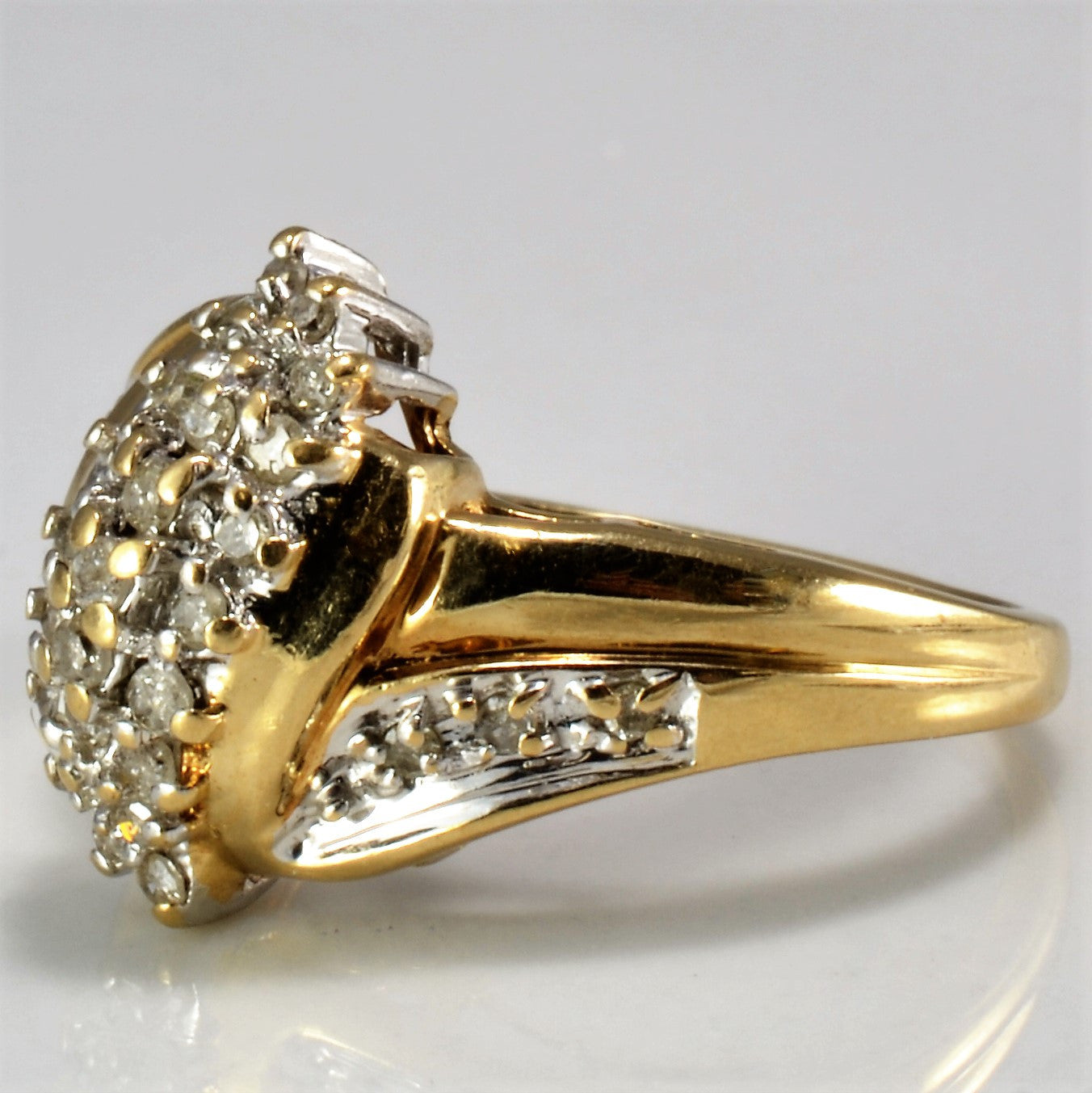 Twisted Diamond Cluster Ring | 0.30 ctw, SZ 4.75 |