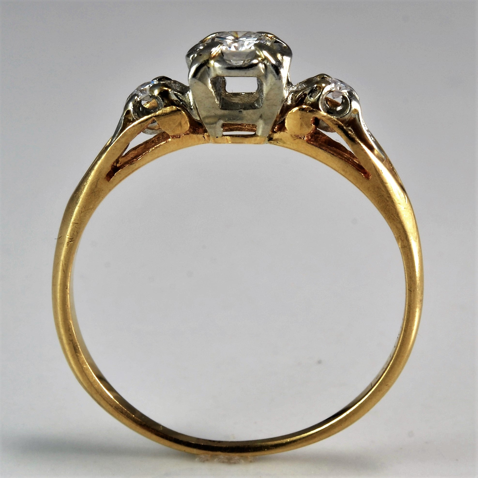 Retro Diamond Engagement Ring | 0.15 ctw, SZ 7.75 |