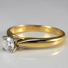 Classic Prong Set Tapered Solitaire Engagement Ring | 0.38ct | SZ 8.25 |