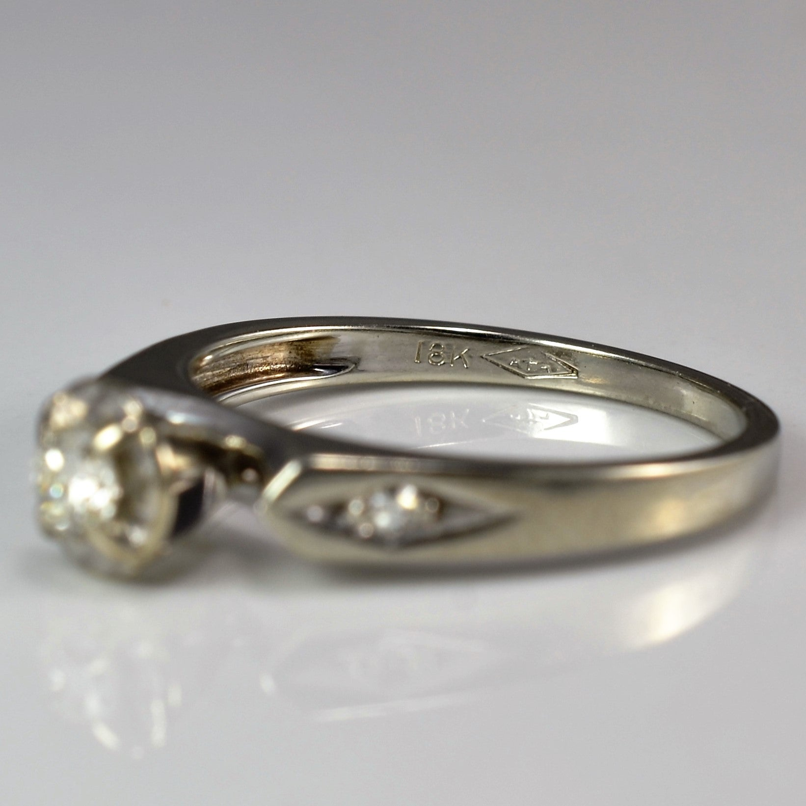 Retro Illusion High Set Engagement Ring | 0.17 ctw, SZ 6.75 |