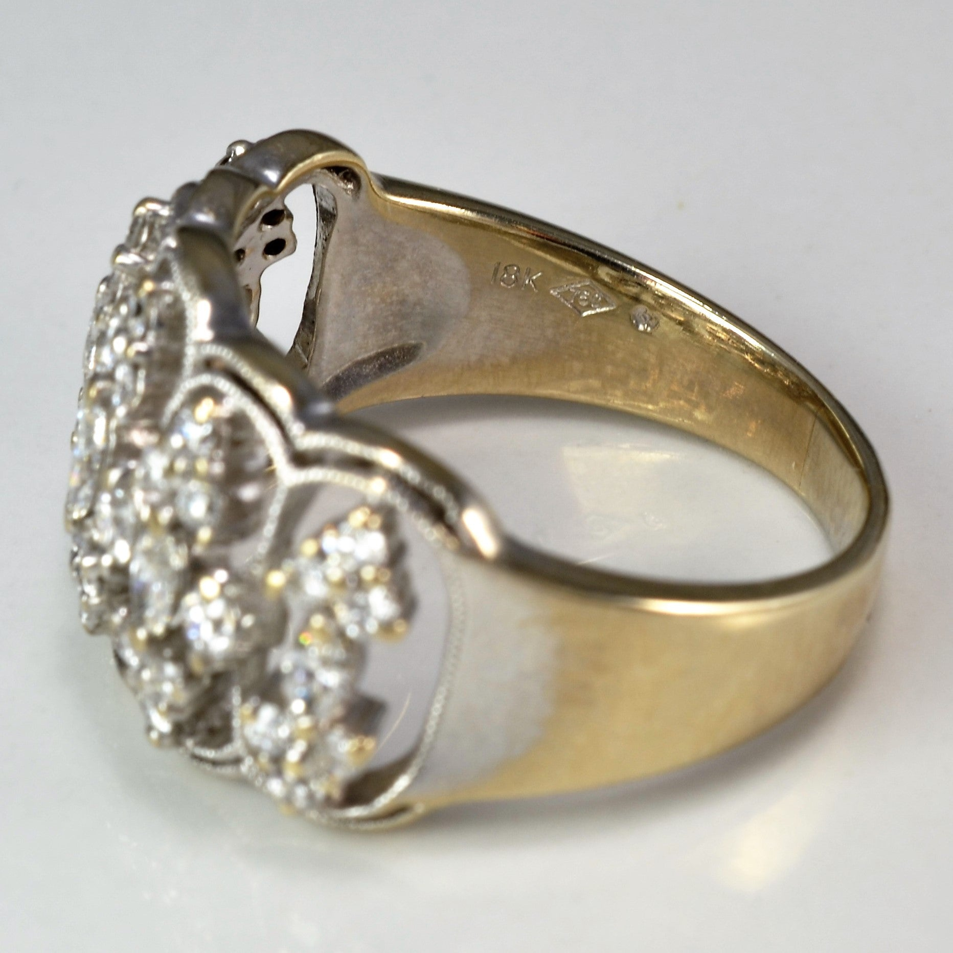 antique diamond ring a anniversary milgrain wg