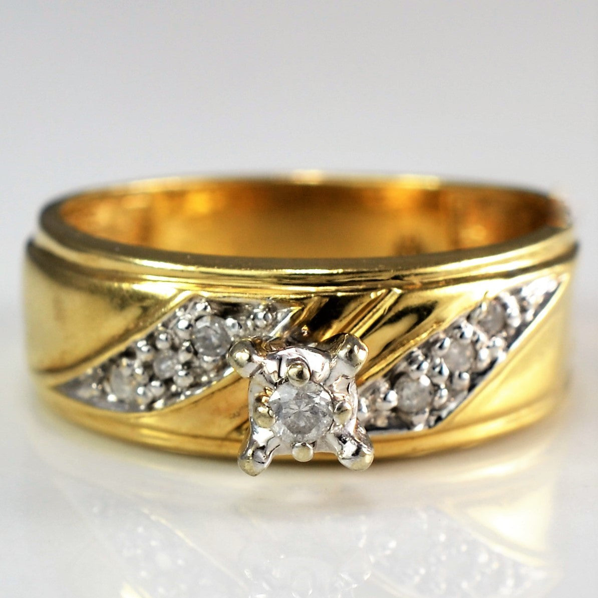 Vintage Diamond Engagement Ring | 0.06 ctw, SZ 5.25 |