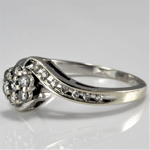 Diamond Cluster Bypass Ring SZ 7.25