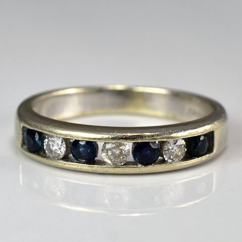 Alternating Sapphire & Diamond Band | 0.15 ctw, SZ 5.25 |