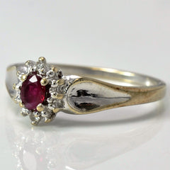Prong Set Ruby Ring | 0.02 ctw, SZ 7 |