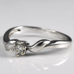 Twisted Six Prong Diamond Ring | 0.08 ct, SZ 5.75 |