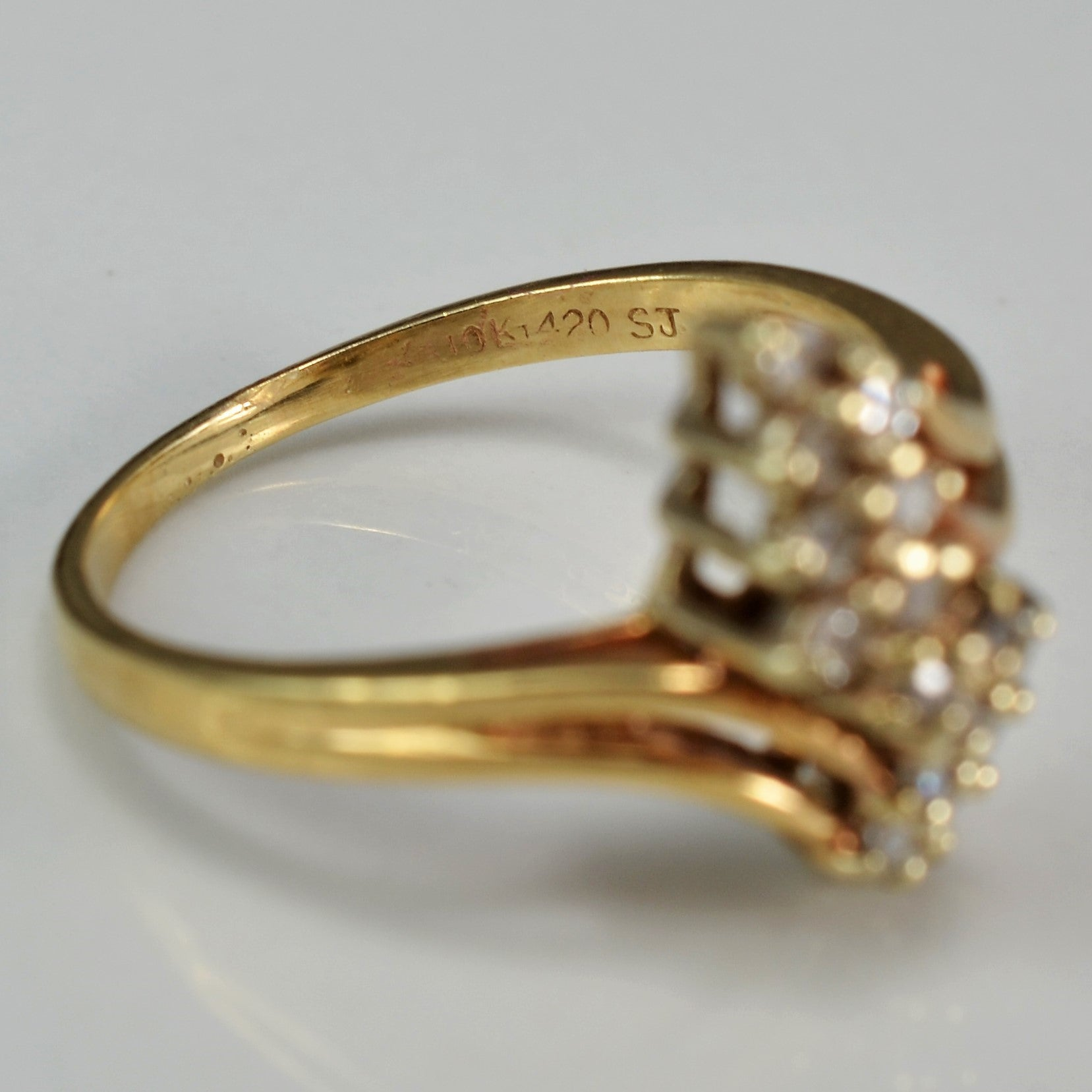 Bypass Split Shank Diamond Ring | 0.15 ctw, SZ 6 |