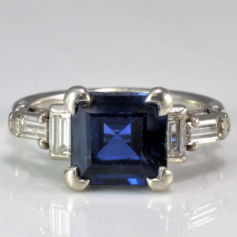 Exquisite Sapphire & Diamond Engagement Ring | 0.20 ctw, SZ 3.5 |