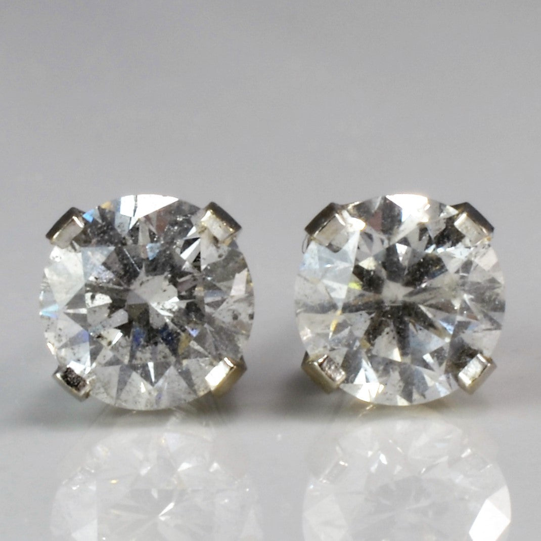 White Gold Diamond Solitaire Studs | 1.40 ctw |