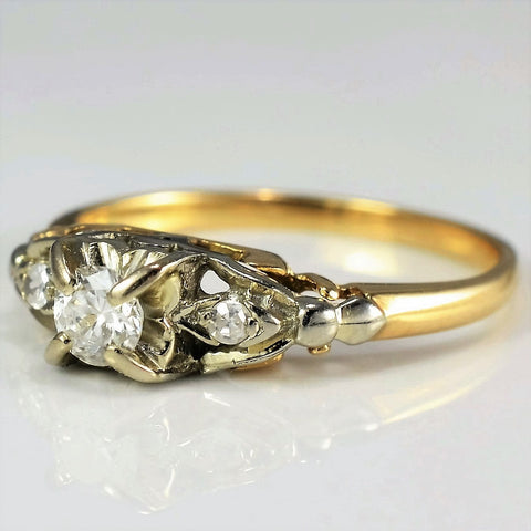 Retro Era Engagement Ring | 0.24 ctw, SZ 7 |
