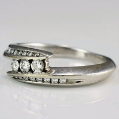 Bypass Three Stone Diamond Ring | 0.18 ctw, SZ 5.75 |