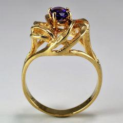 Twisted Amethyst Cocktail Ring | SZ 5.75 |