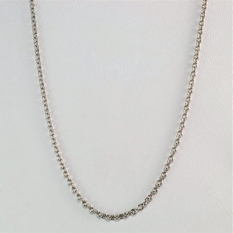 14K White Gold Rolo Chain | 16''|