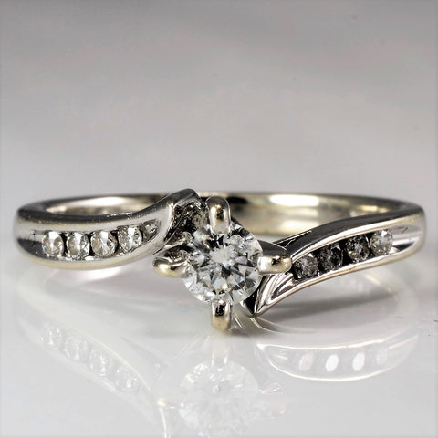 Bypass Diamond Engagement Ring | 0.23 ctw, SZ 5.75 |