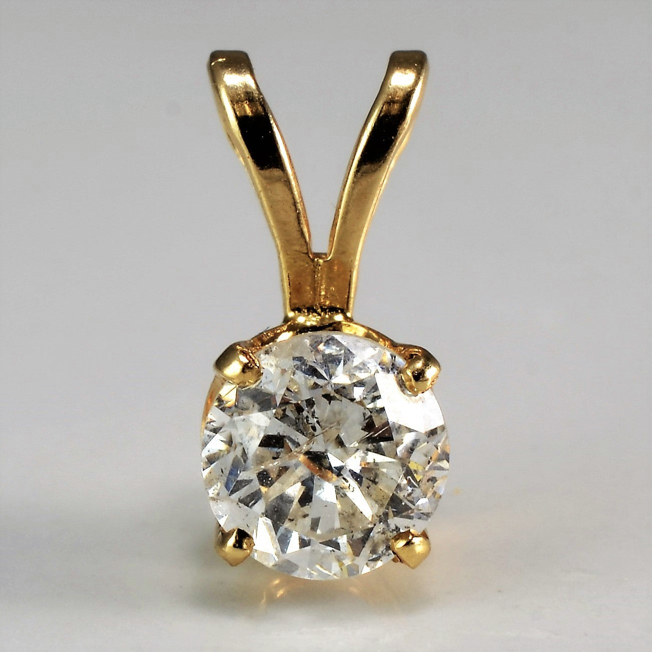 Split Bail Solitaire Pendant | 0.65 ct |