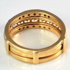 Channel Set Ring Enhancer With Diamond Band | 0.20 ctw, SZ 6.75 |