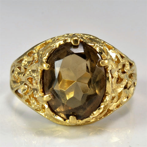 Vintage Smoky Quartz Cocktail Ring | SZ 5.75 |