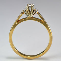 Open Cathedral Three Stone Diamond Ring | 0.07 ctw, SZ 6.25 |