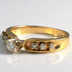 High Set Diamond Promise Ring | 0.16 ctw, SZ 5.5 |