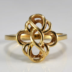 Floral Knot Gold Ring | SZ 6.25 |