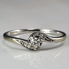 Twisted Bypass Promise Ring | 0.10 ct, SZ 6.75 |