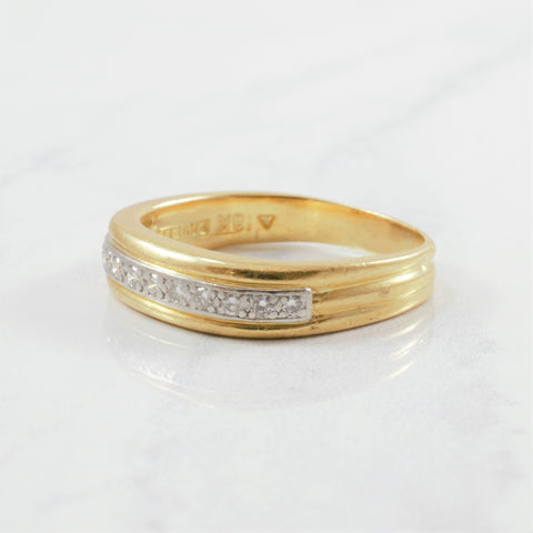 'Cavelti' Vintage Diamond Soft Square Band | 0.25ctw | SZ 7.75 |