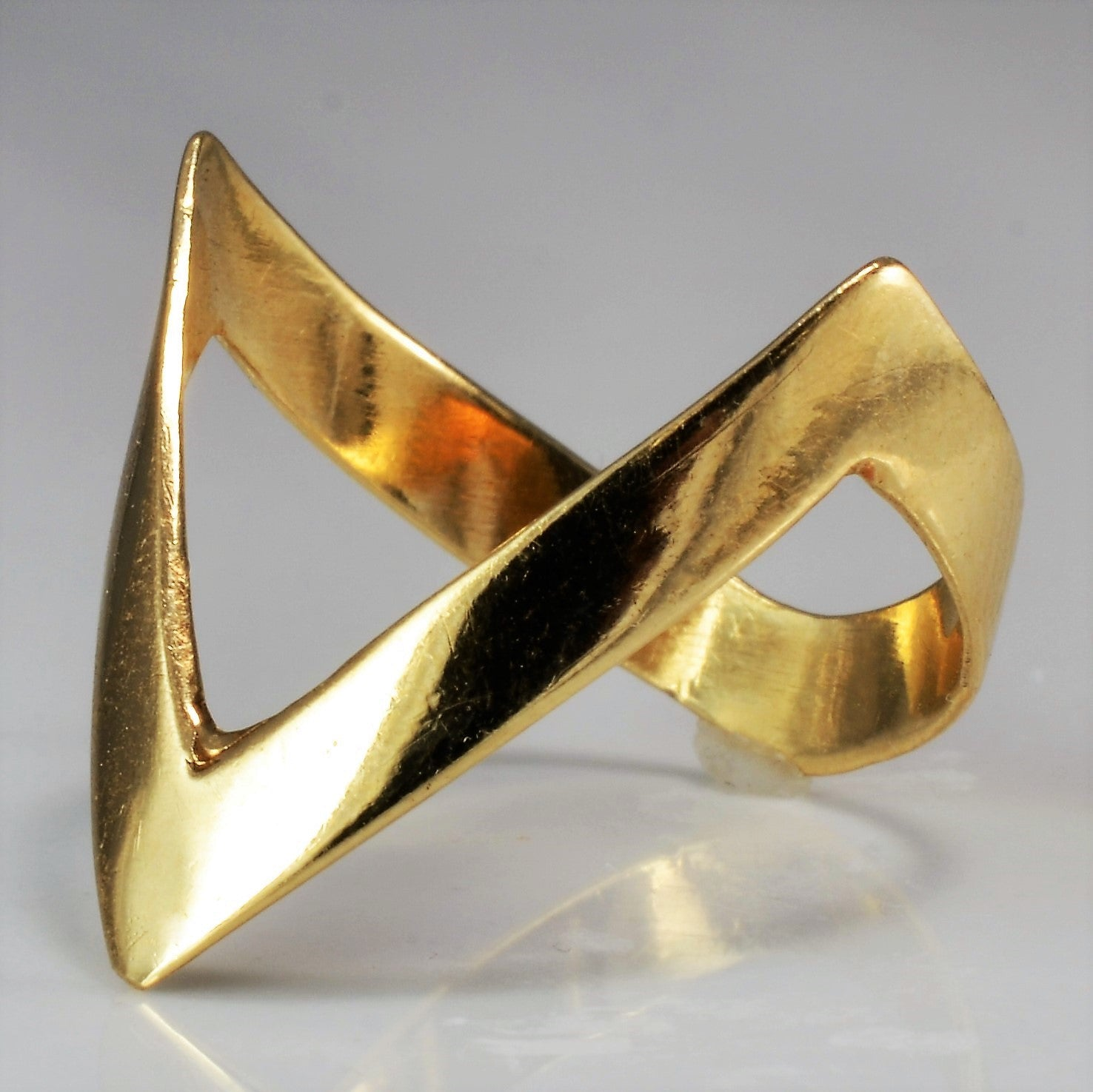 Deep Chevron Gold Ring | SZ 7.75 |