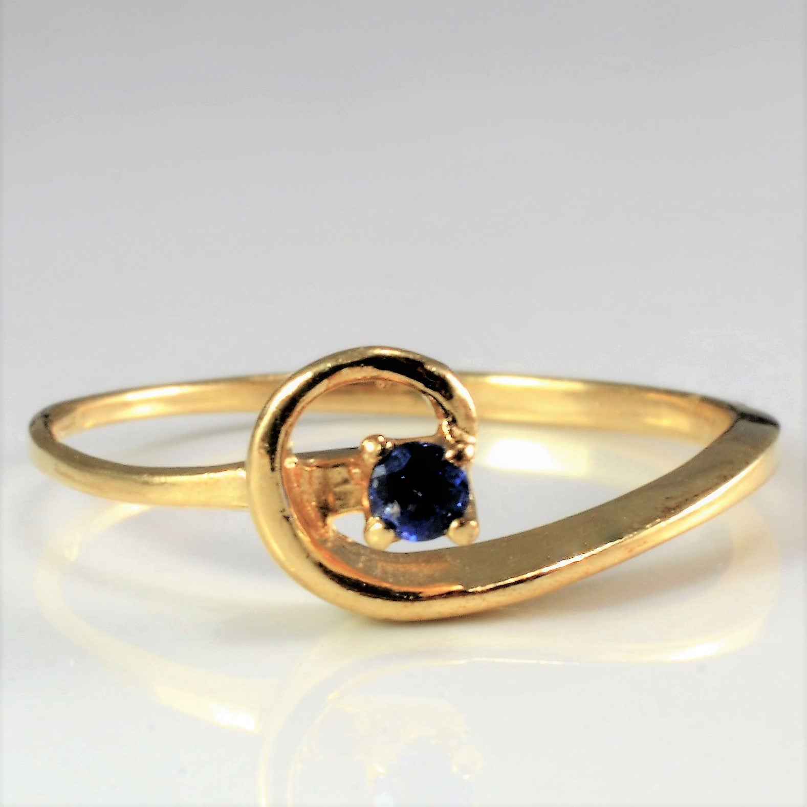 solitaire sapphire diamond ireland dublin ring gold white products blue campbell engagement
