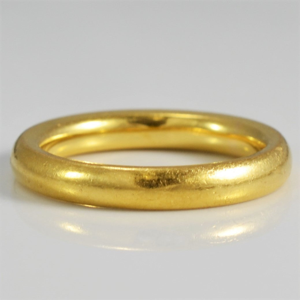 fit women ring solid bands wedding men yellow gold band comfort itm