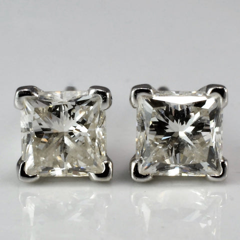 Princess Diamond Solitaire Studs