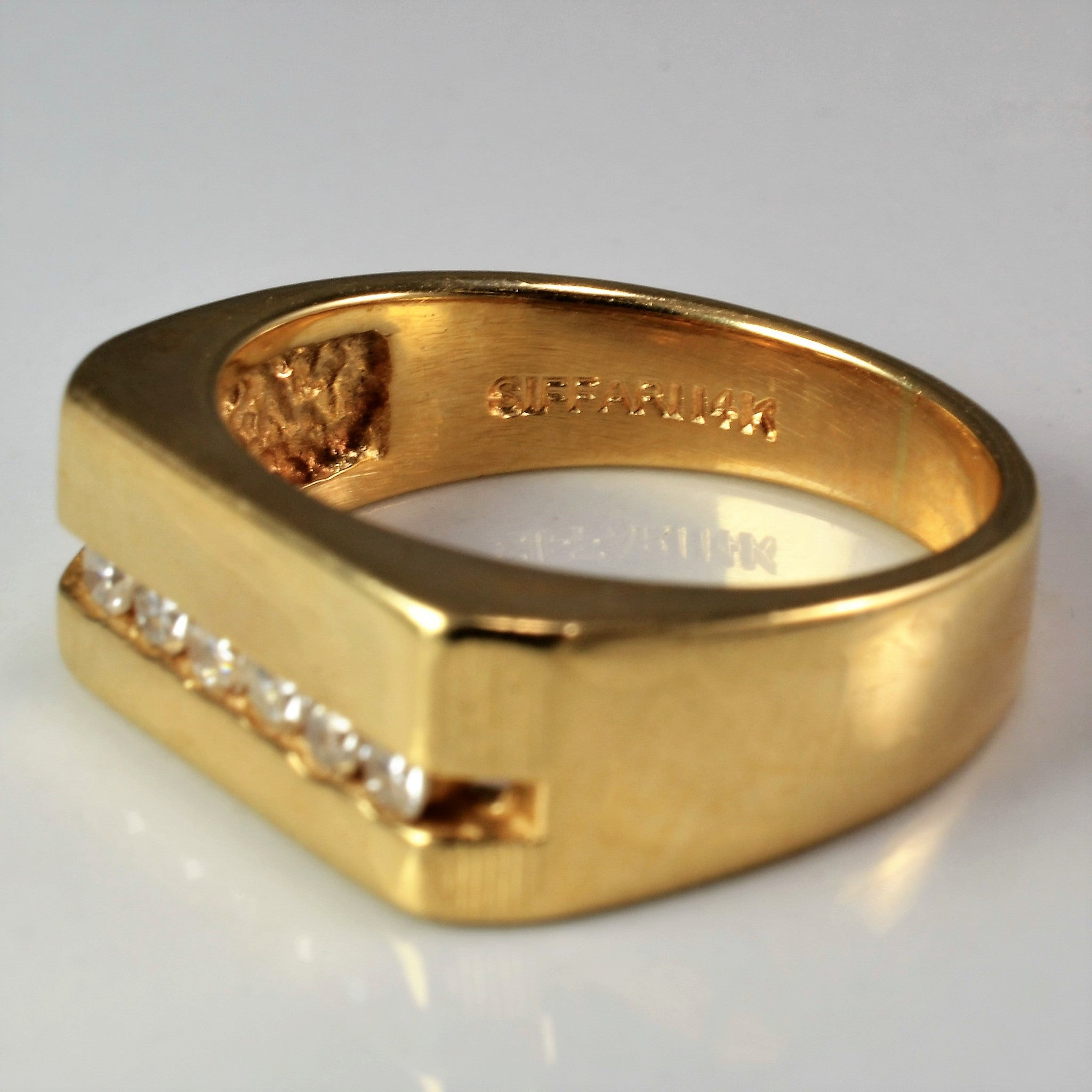 Wide Band Diamond Channel Ring | 0.15 ctw, SZ 5 |