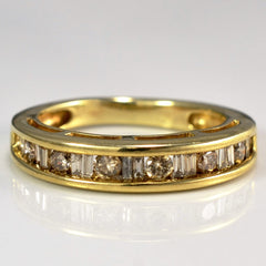 Yellow Gold Champagne Diamond Band | 0.50 ctw, SZ 6 |