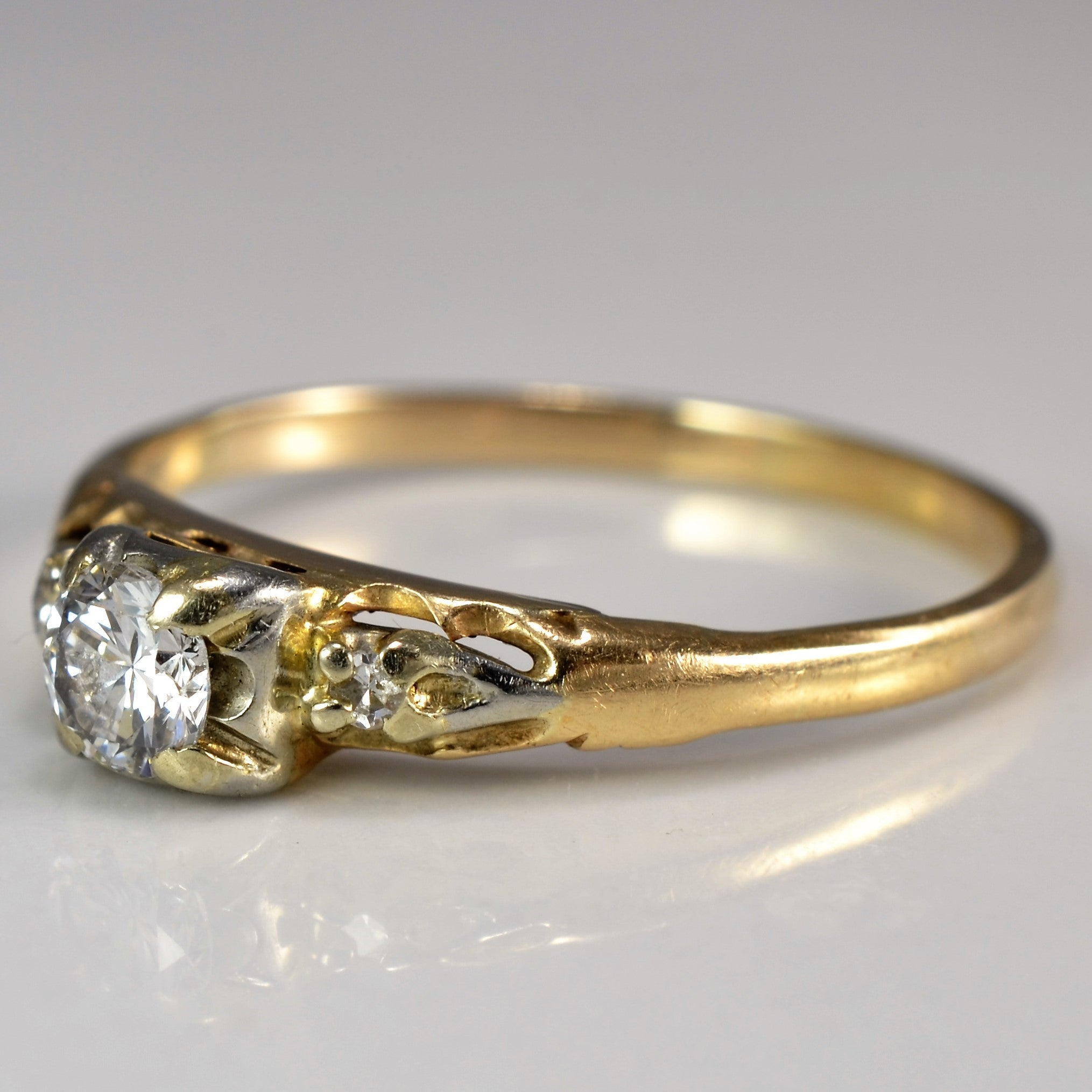 Vintage Diamond Engagement Ring | 0.25 ctw, SZ 8.25 |