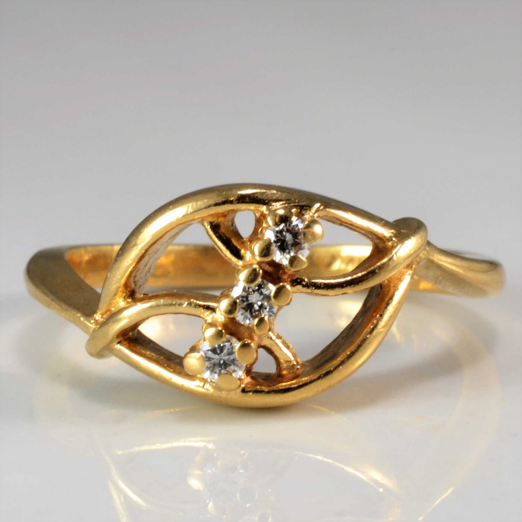 Bypass Abstract Diamond Ring | SZ 3.5 |