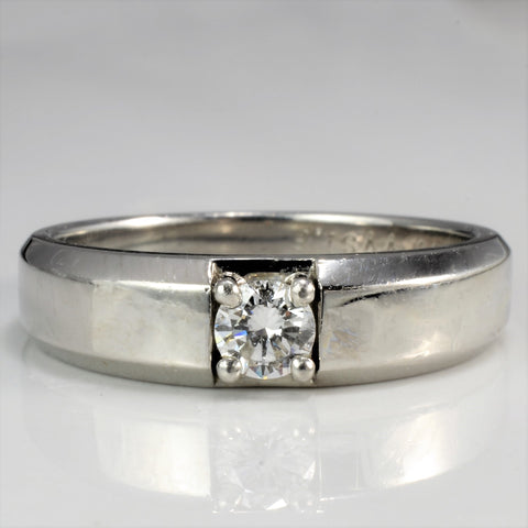 Men's Platinum Solitaire Diamond Band | 0.30 ct, SZ 10 |