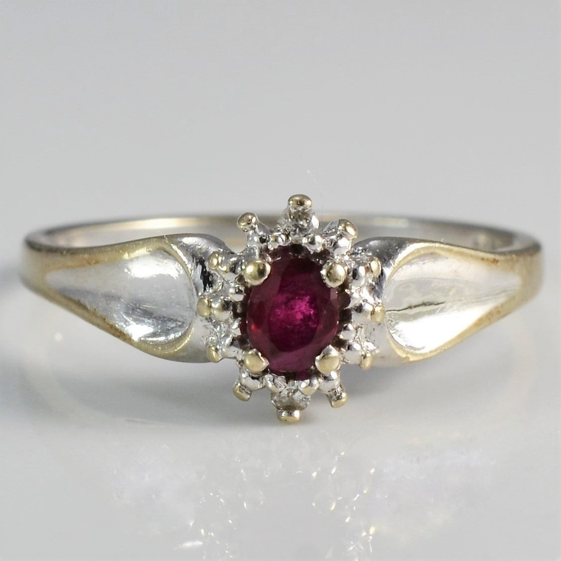 Prong Set Ruby Ring | 0.02ctw, 0.15ct | SZ 7 |