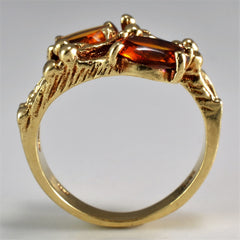 Oval Cut Citrine Bypass Ring | SZ 4.75 |