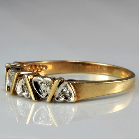 Alternating Diamond Heart Ring | SZ 6.5 |
