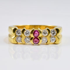 Sapphire and Ruby Ring | 0.24 ctw SZ 5.25 |