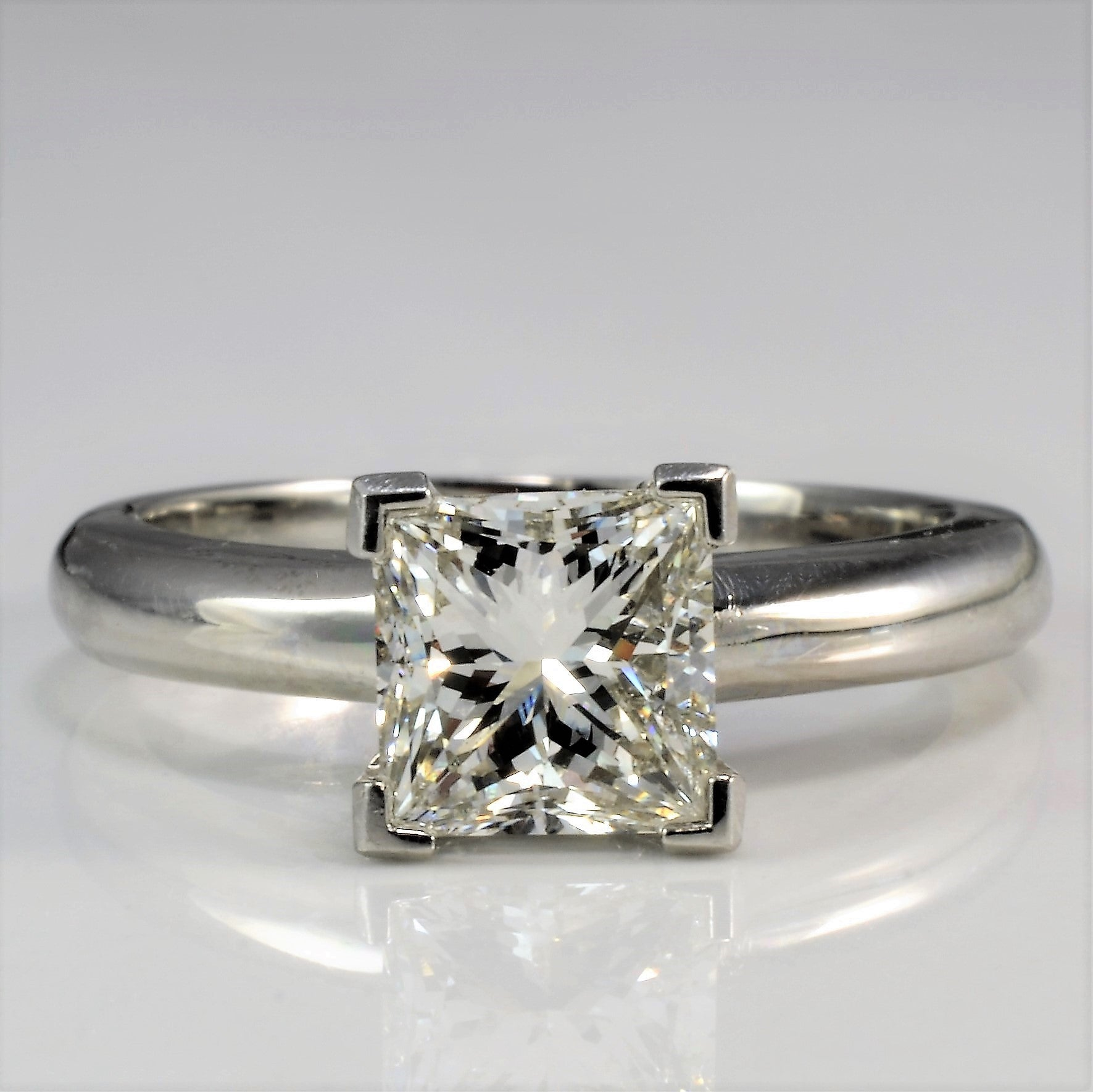 engagement white rings ring gold diamond square