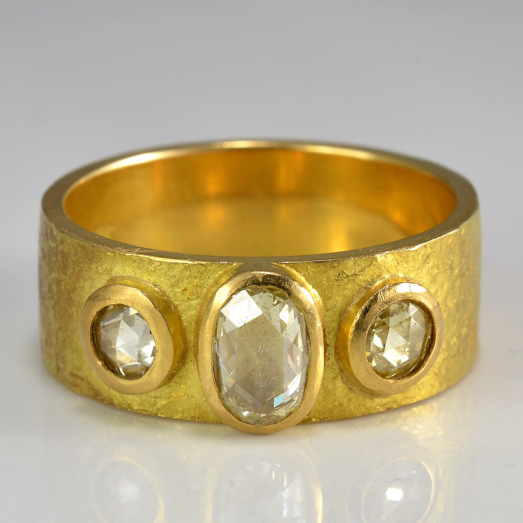 Vintage Three Stone Rose Cut Diamond Ring | 0.65 ctw, SZ 7.5 |