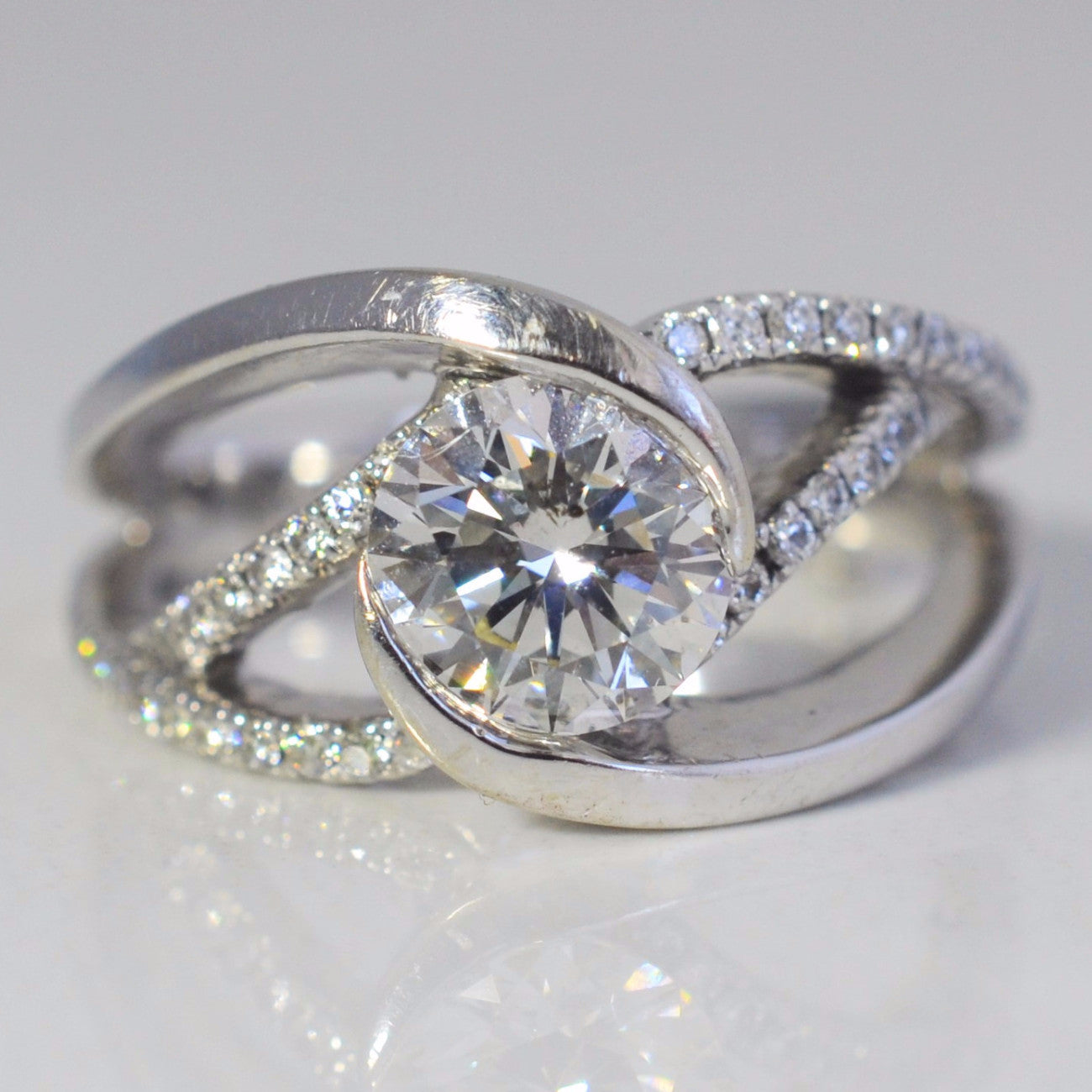 Spiral Design Engagement Ring | 1.56 ctw, SZ 6.25 |