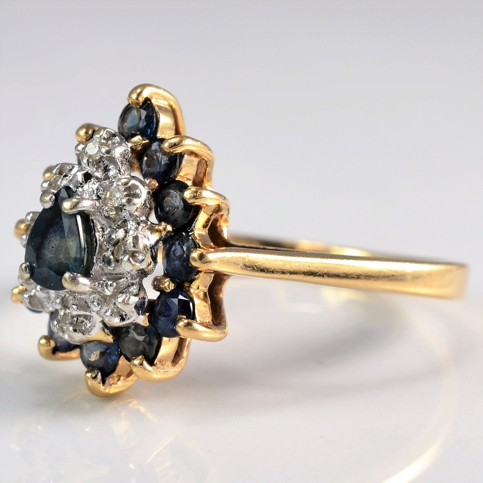 Multi Stone Pear Shaped Cocktail Ring | 0.04 ctw, SZ 7.5 |